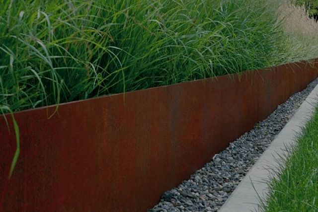 Edge Retaining Corten Steel Greenmax